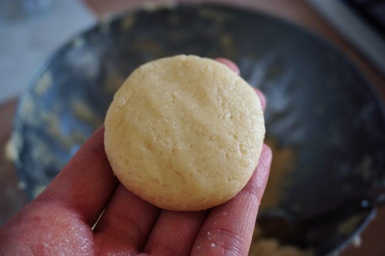 Dough for gluten free boston cream doughnuts