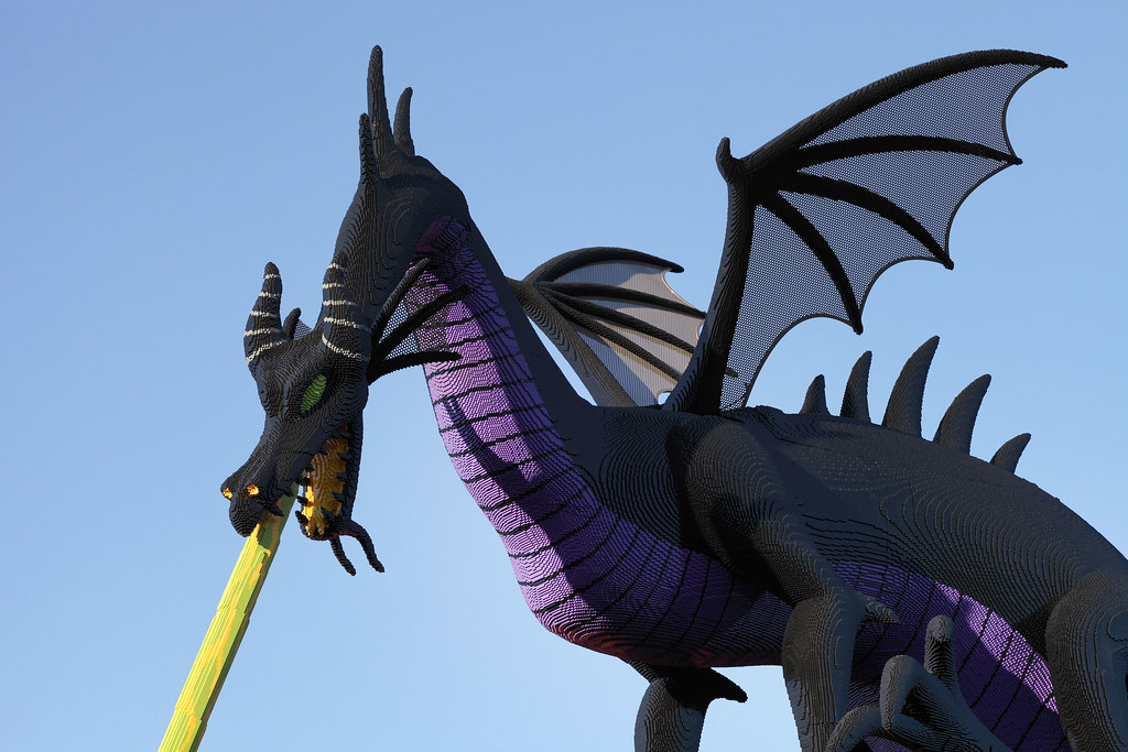 Maleficent Dragon Maleficent Breathing Fire At The Lego