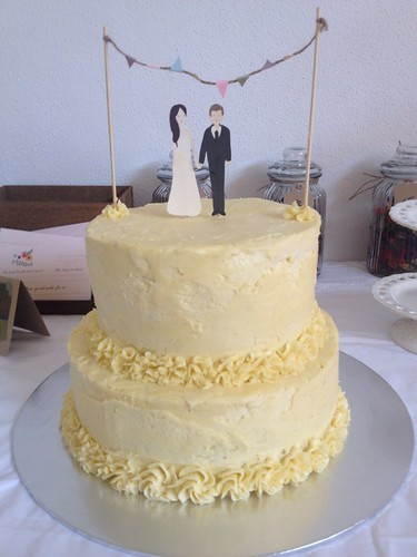 Homemade Wedding Cake A Collaboration Between Two