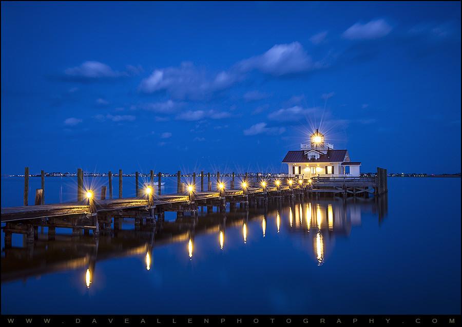 Roanoke Marshes Lighthouse Manteo Nc Blue Hour Reflectio Flickr