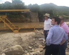 Mintransporte inspeccionó plan de choque para emergencia en puente sobre río Charte