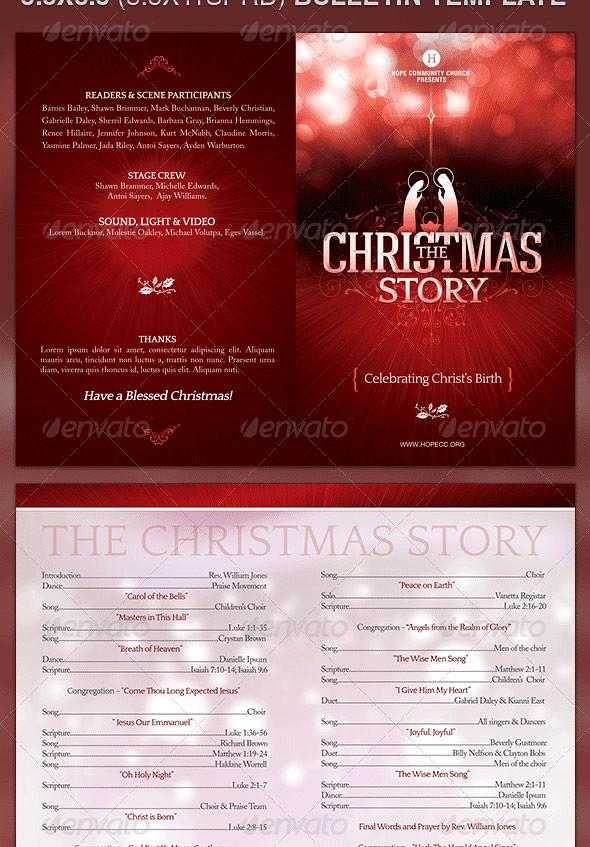 Church Bulletin Template The Christmas Story The Christm Flickr