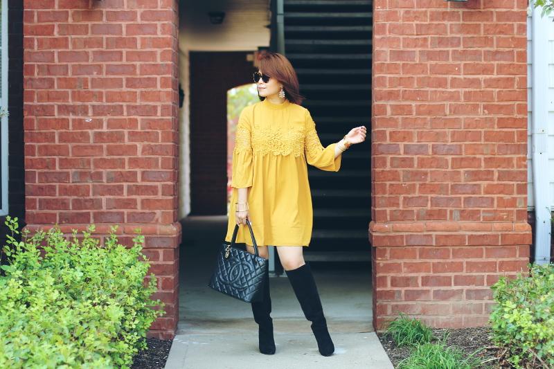 Versona-Fall-lace-Dress-tall-boots-2