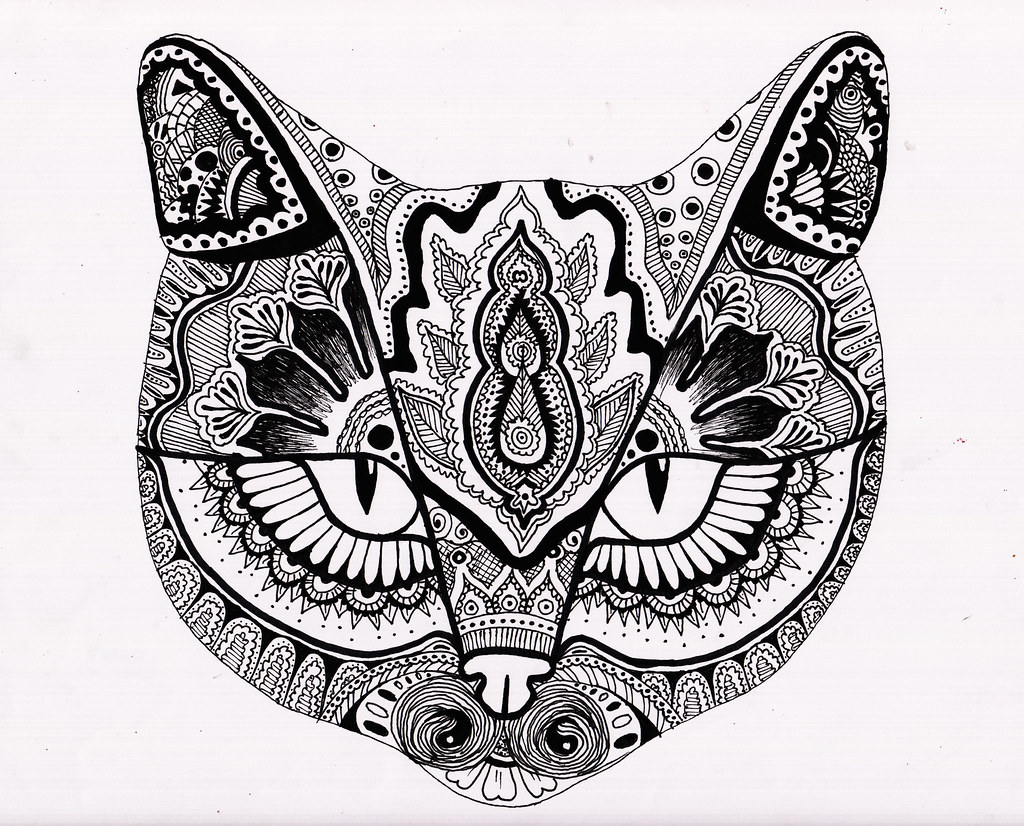 Henna Cat Face Fineliner I Used This Design To Decorate