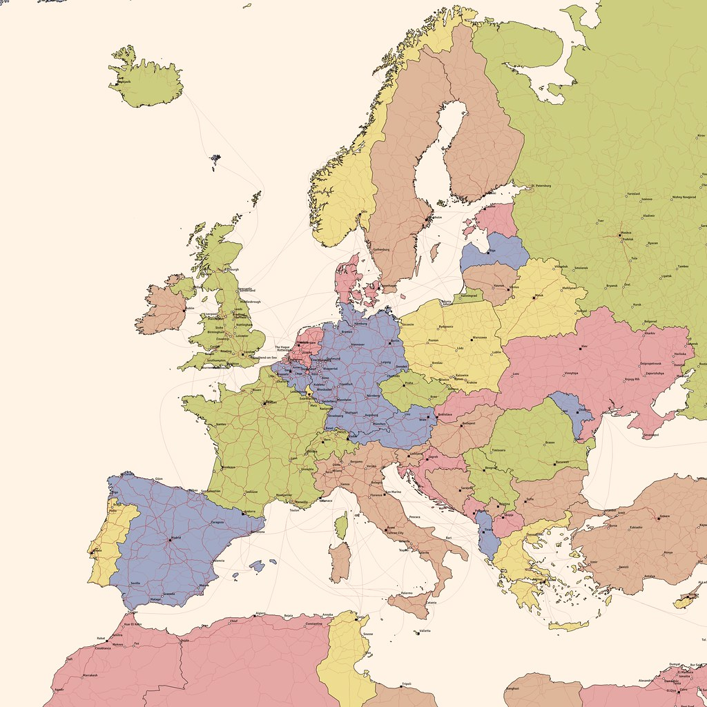 Map Of Europe Made From Natural Earth Data Some Early