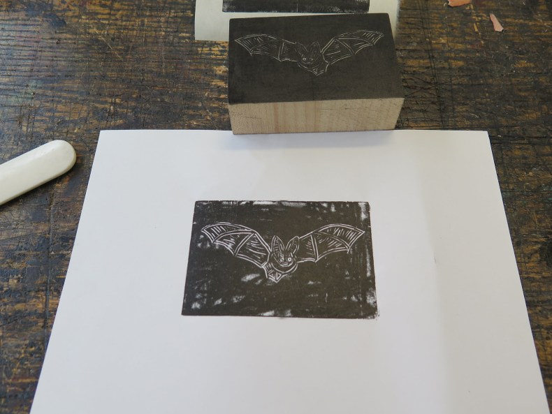 Wood Engraving - Bat Print