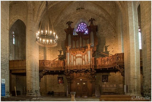 Orgel in de abdijkerk van La Chaise Dieu