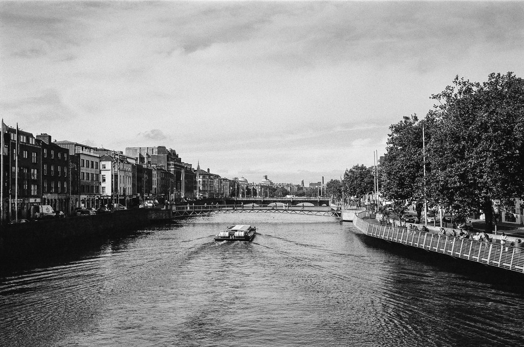 A river runs through Dublin on Kodak T-Max 400 film