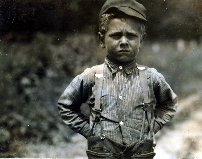"""I don't never git no rest."" This is the attitude that Henry, a six-year old beet worker takes toward life, on a Wisconsin farm. July, 1915 Hine, Lewis Wickes, photographer."