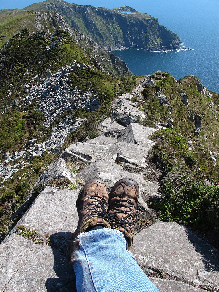 One Mans Path From The Top Slieve League Co Donegal