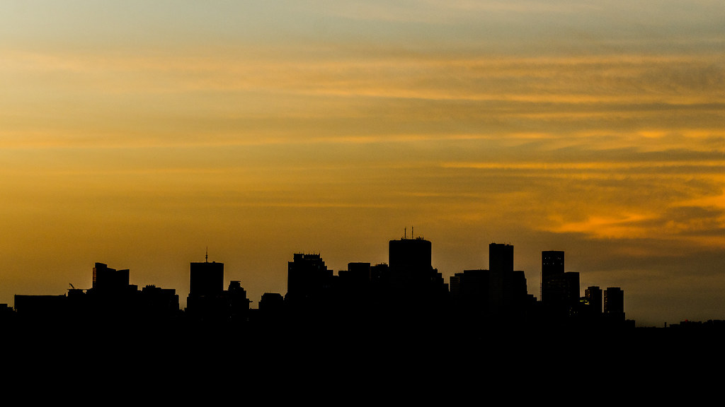 Boston Skyline Silhouette This Was The View From My
