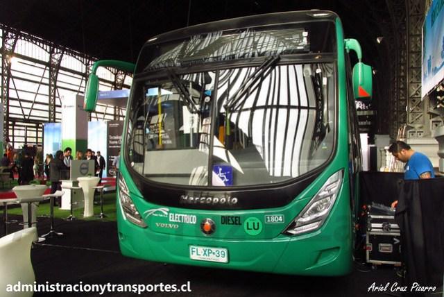 TransUrbano 2016 | Marcopolo Viale BRS - Volvo Híbrido / FLXP39
