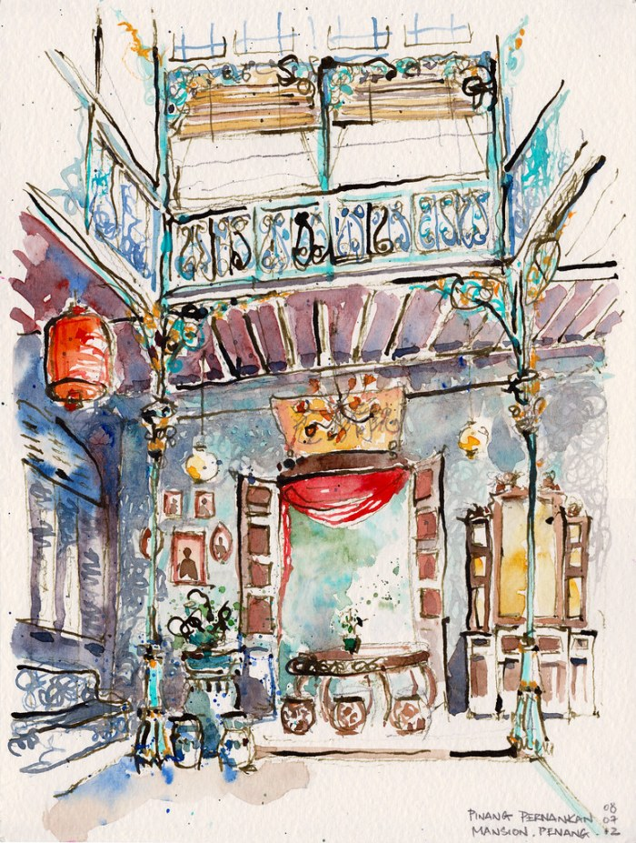 Watercolors of Penang by Paul Wang