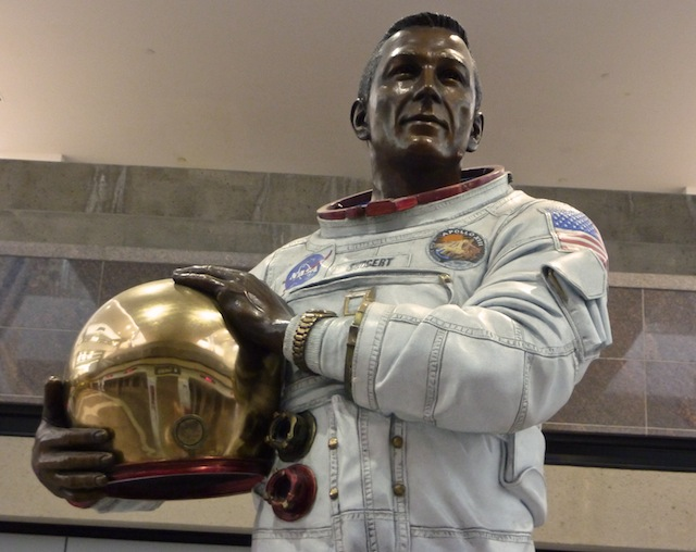 Statue Of John L Jack Swigert Jr At Denver Internatio