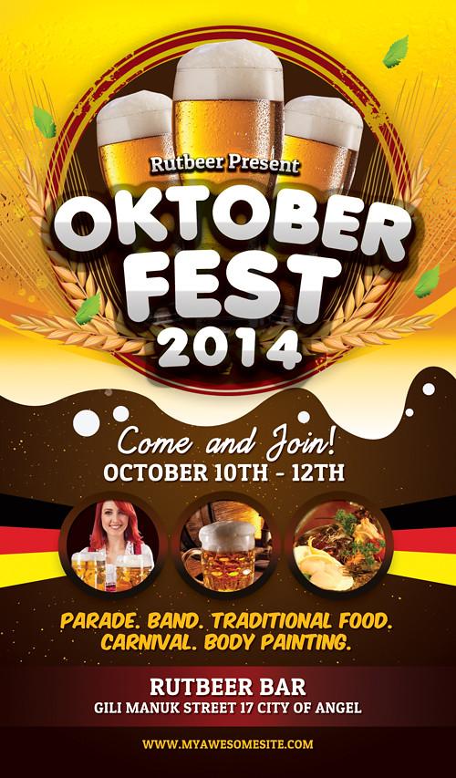 Oktoberfest Flyer Template DOWNLOAD PSD HERE Graphicriv Flickr