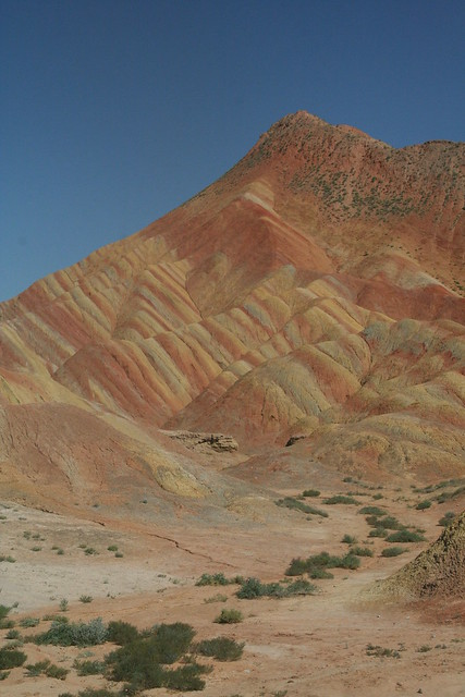 Map Mountains Danxia Gansu Province