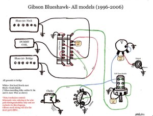 blueshawk wiring diagram schematic gibson color | Flickr