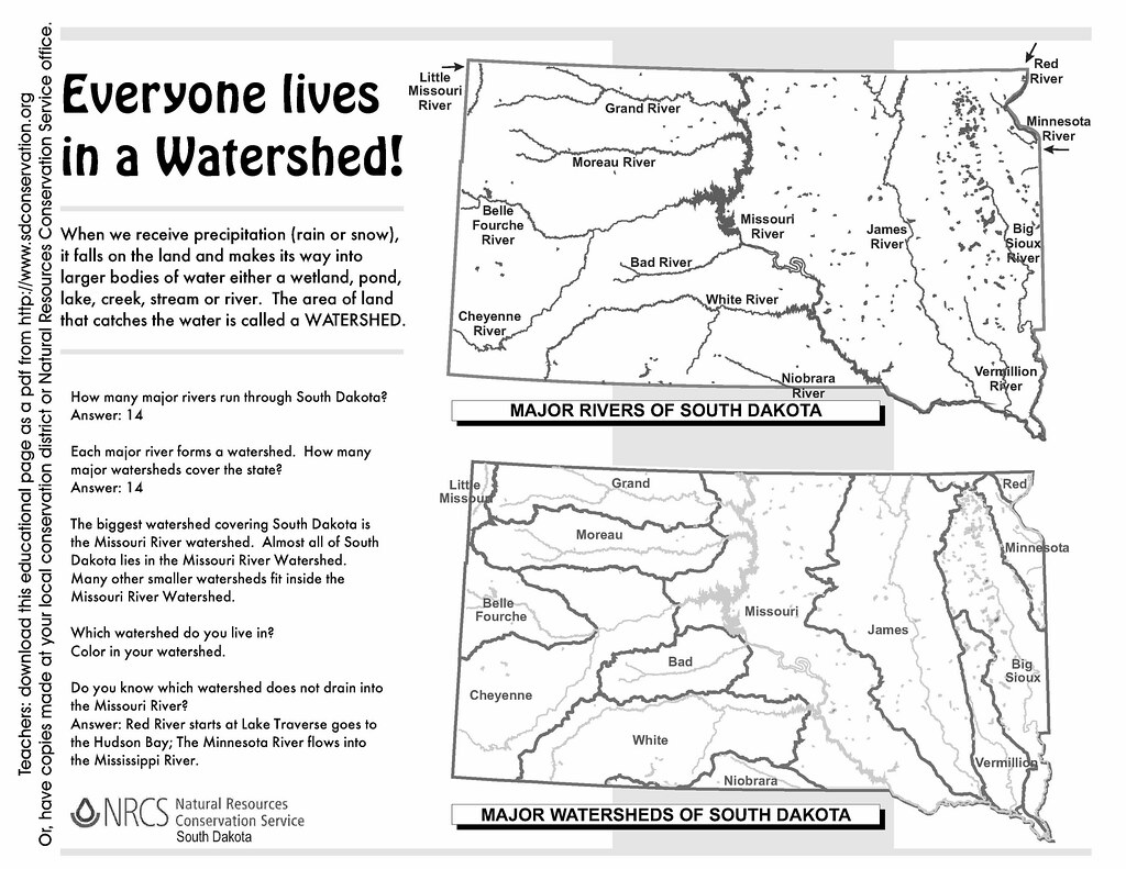 South Dakota Watersheds Worksheet Answers