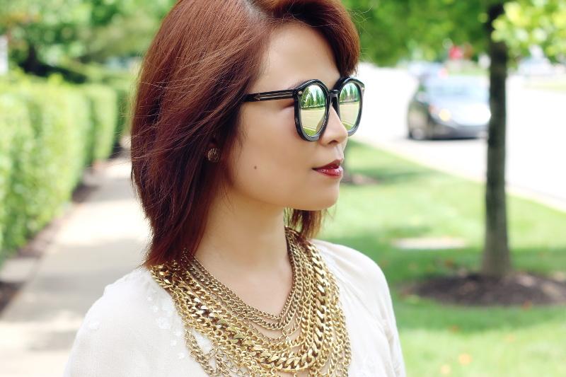 short-hair-gold-chain-necklace-dark-lip-karen-walker-sunglasses-2
