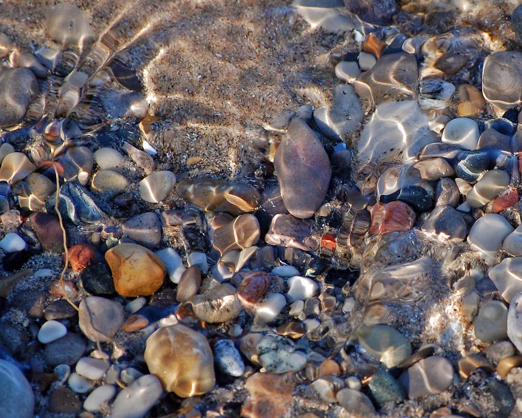 Pebbles In The Stream Taken On The Lake Michigan Beach