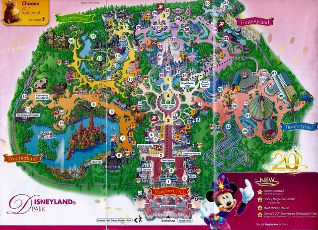 Disney Located Paris Map