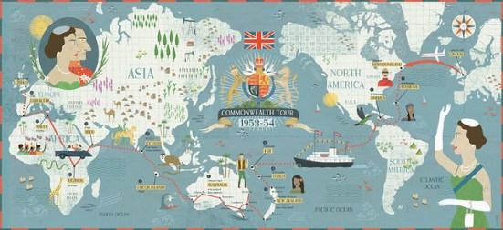Commonwealth map