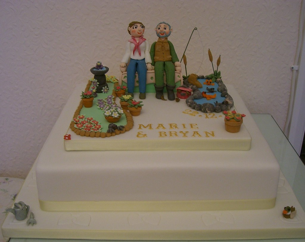 50th Golden Wedding Anniversary Cake Oops