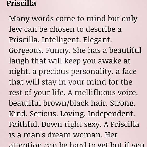 Priscilla Name Meaning
