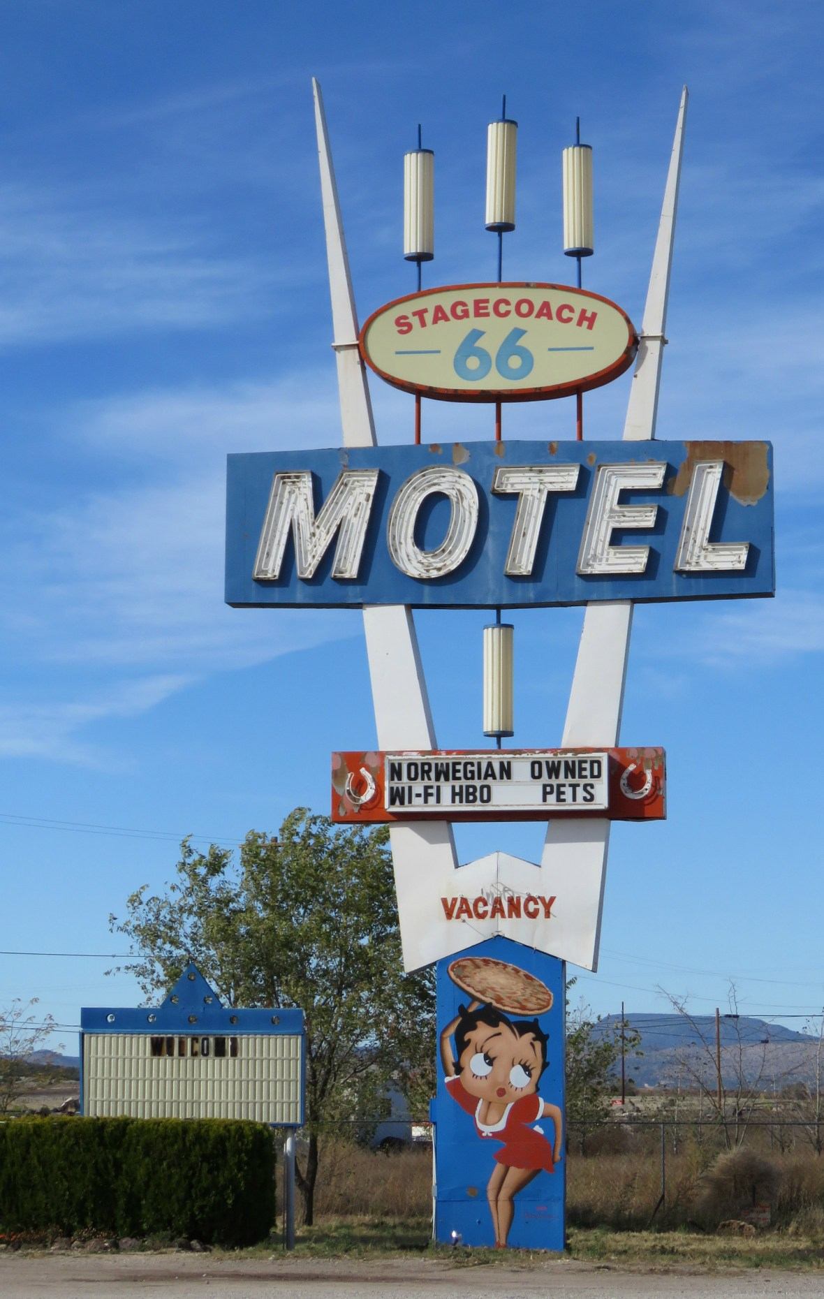 Stagecoach 66 Motel and The Pizza Joint - 639 Chino Street, Seligman, Arizona U.S.A. - November 9, 2015