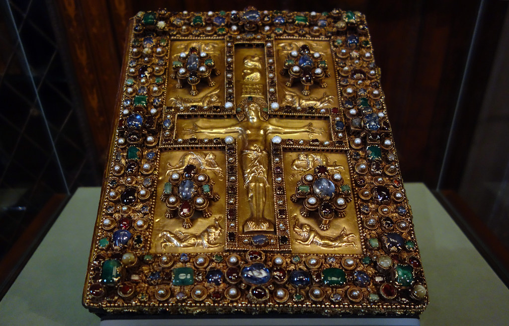 Upper Cover Lindau Gospels Jeweled Upper Cover Of The