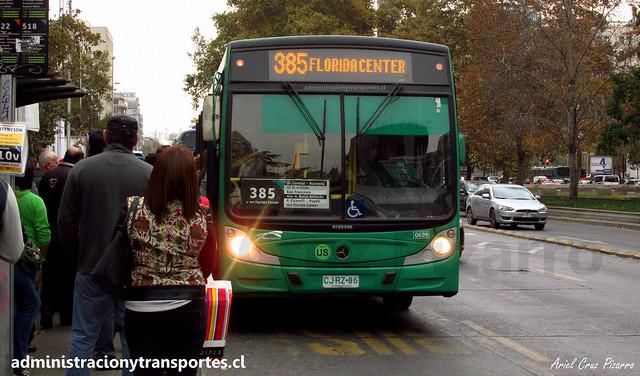 Transantiago 385 | Buses Vule | Caio Mondego H - Mercedes Benz / CJRZ86
