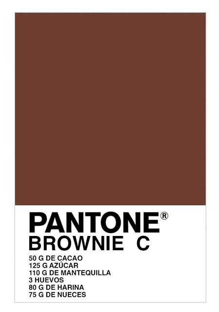 Pantone brownie