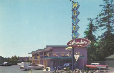 Postcard: Islander Motel, Victoria, BC, c.1960 |