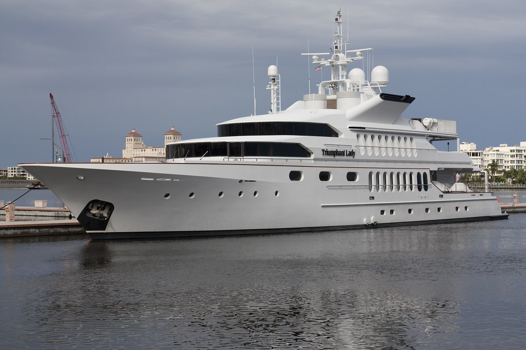 Triumphant Lady Yacht At The Palm Harbor Marina In