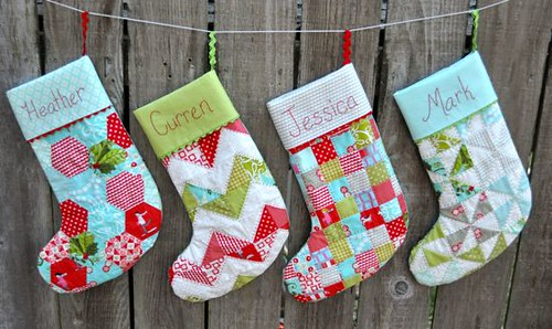 Christmas Stockings I Used The Merry Pattern From