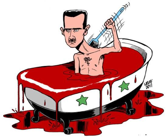 latuff carlos - Bashar Al Assad Blood Bath in Syria
