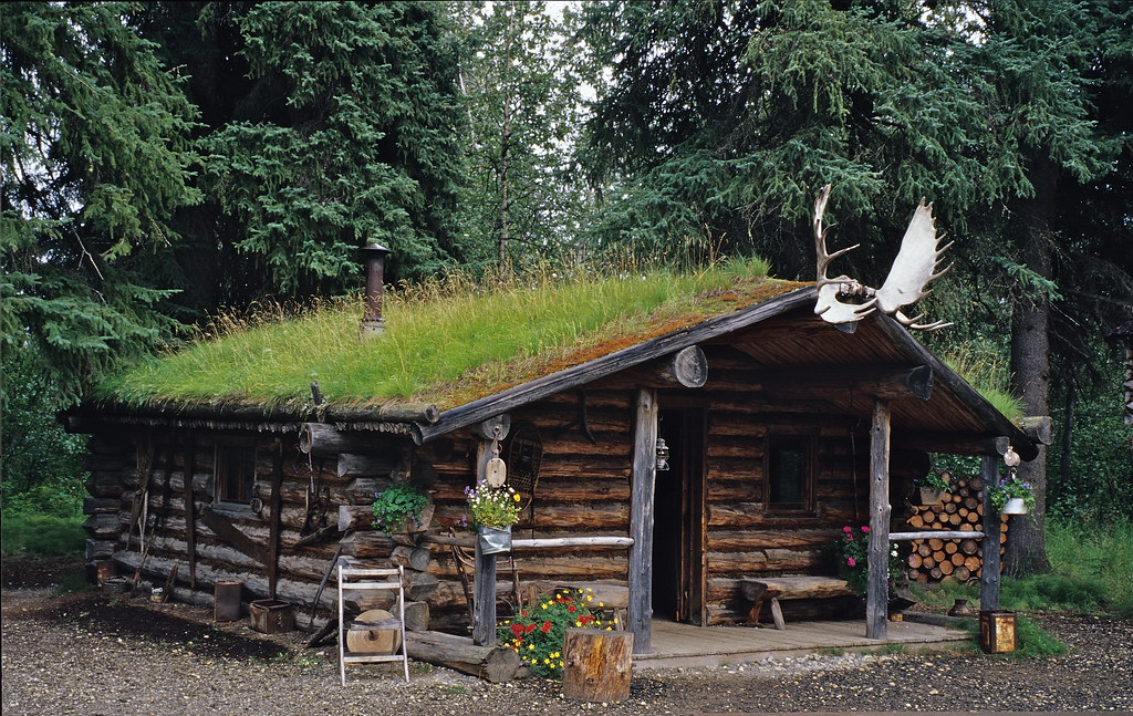 Log Cabin Used By The Athabascan Indians, Chena Indian Vil