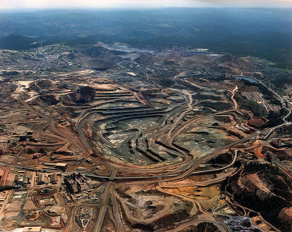 Zona patrimonial cuenca minera de riotinto nerva el, rio tinto espana