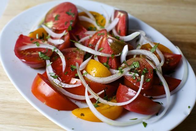 tomato salad, portuguese-style