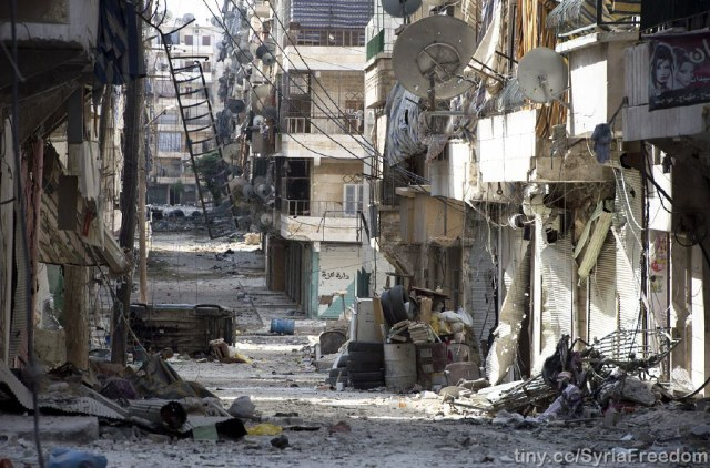 Little remains of Aleppo after a ruthless bombing campaign by Syrian and Russian forces. (Image: Flickr.com)