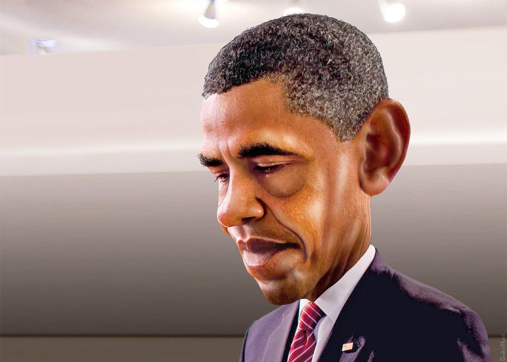 Barack Obama Caricature Barack Hussein Obama II Aka