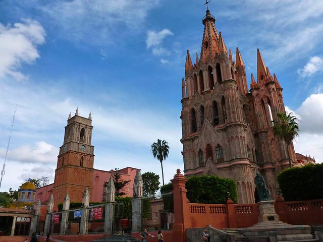 La Parroquia de San Miguel Arcángel, in Messico