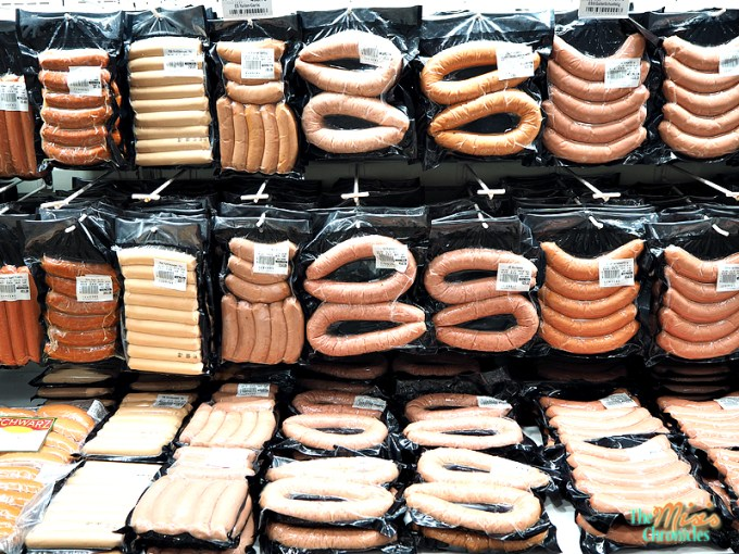 imported sausages at landers