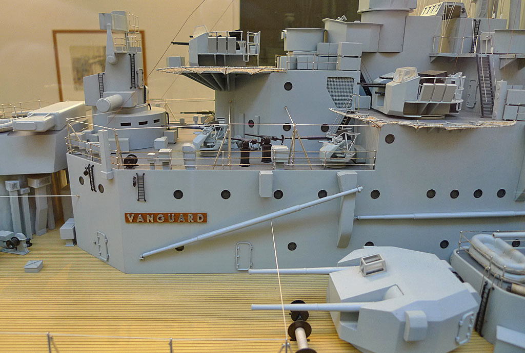HMS Vanguard A Detail From The Huge Model Of HMS
