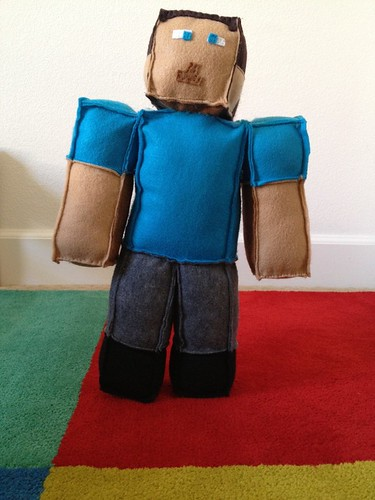 Minecraft Steve Plush Doll Made With Felt Thread And