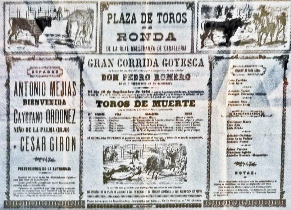 Museo Plaza de Toros carteles documentos Ronda Málaga 01