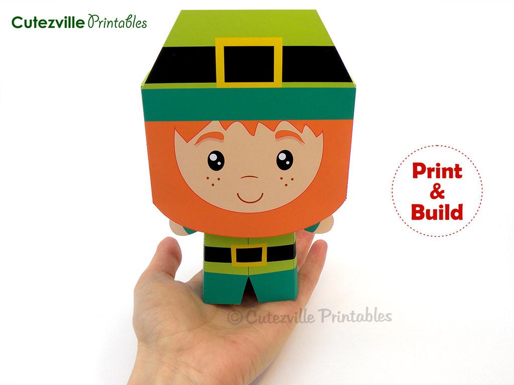 Printable St Patrick S Day Leprechaun T Box