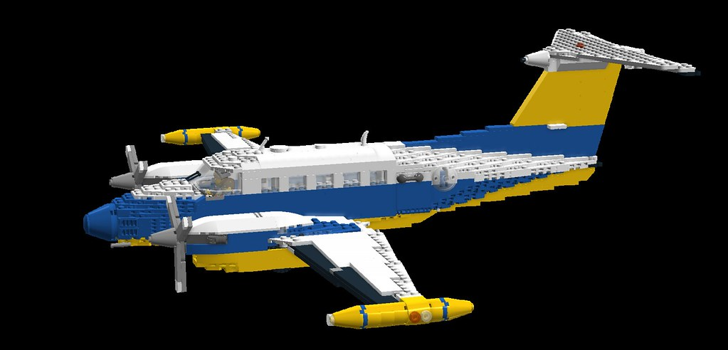 Lego Airplane King Air 4 200 T Varation Larger Rear