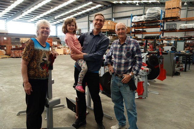 visiting allan and chris yeomans in 2016