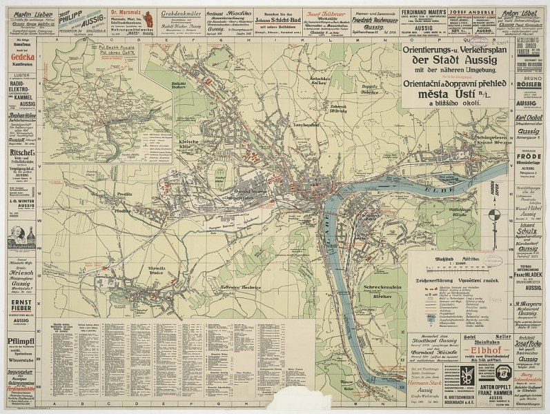 OLD MAPS 10   Czech Republic   Old Map of the Town     st     nad       Flickr     OLD MAPS 10   by beranekp